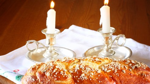 Husband Accepting Shabbat with his Wife